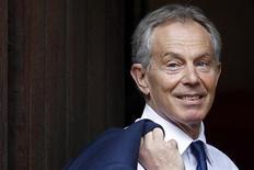 Ex-primeiro-ministro britânico, Tony Blair, chega à Alta Corte antes de prestar depoimento perante o Inquérito Leveson, no centro de Londres. 28/05/2012 REUTERS/Stefan Wermuth