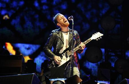 Dan Auerbach of the Black Keys performs at the Coachella Valley Music and Arts Festival in Indio, California April 13, 2012. REUTERS/David McNew