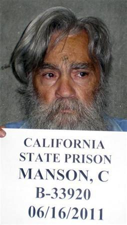 Convicted mass murderer Charles Manson is shown in this handout picture from the California Department of Corrections and Rehabilitation dated June 16, 2011 and released to Reuters April 8, 2012. REUTERS/CDCR/Handout