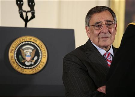 U.S. Secretary of Defense Leon Panetta waits for the arrival of U.S. President Barack Obama before beginning the Medal of Honor ceremony in the East Room of the White House in Washington, May 16, 2012. REUTERS/Larry Downing