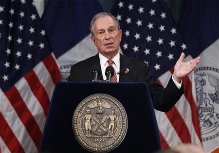 New York City Mayor Michael Bloomberg presents his proposed executive 2013 New York City budget at City Hall in New York, May 3, 2012. REUTERS/Lucas Jackson