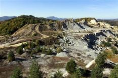 A general view of an old quarry near Rosia Montana vilage, 428 km (266 miles) northwest of Bucharest, seen from the top of one of the four proposed mining quarries on October 4, 2011. REUTERS/Radu Sigheti