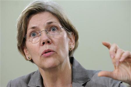 Elizabeth Warren, Assistant to the President and Special Advisor to the Secretary of the Treasury, gestures as she testifies at a hearing about oversight of the Consumer Financial Protection Bureau of the U.S. House Oversight and Government Reform Committee on Capitol Hill in Washington, May 24, 2011. REUTERS/Jonathan Ernst