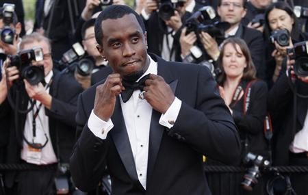 Musician and executive producer Sean ''Diddy'' Combs arrives on the red carpet for the screening of the film ''Lawless'', in competition at the 65th Cannes Film Festival, May 19, 2012. REUTERS/Yves Herman