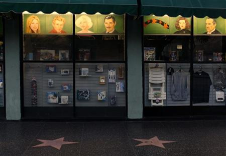 A shop displays its wares on its window along Hollywood boulevard in Hollywood, California February 22, 2012. REUTERS/Mike Blake