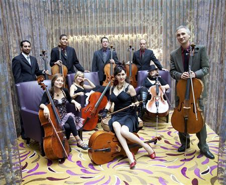 Members of the Portland Cello Project are shown in this publicity photo released to Reuters May 31, 2012. Imagining pop music's most notable records as Baroque-style sonatas, the Oregon-based band of instrumentalists has fashioned a creative niche that forges through genres to bridge the outlandish with the sophisticated. Now on national tour to promote their new album, ''Homage,'' out Tuesday, the collective aims to challenge the restrictions of their instrumental classification. REUTERS/Tarina Westlund/Handout