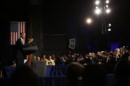 U.S. President Barack Obama participates in a Democratic party election fundraiser in Chicago, June 1, 2012. REUTERS/Jason Reed