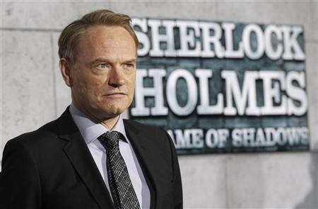 Cast member Jared Harris poses at the premiere of ''Sherlock Holmes: A Game of Shadows'' at the Village theatre in Los Angeles, California December 6, 2011. REUTERS/Mario Anzuoni