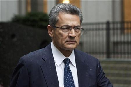 Rajat Gupta, a former Goldman Sachs Group Inc and Procter & Gamble board member, arrives at Manhattan Federal Court in New York, June 4, 2012. REUTERS/Andrew Burton