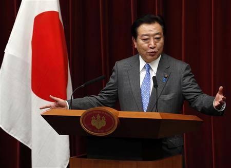 Japan's Prime Minister Yoshihiko Noda speaks at a news conference to announce new cabinet members at his official residence in Tokyo, June 4, 2012. REUTERS/Kim Kyung-Hoon