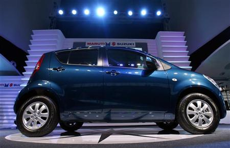 The 'Ritz' car stands on a display during its launch in New Delhi May 15, 2009. REUTERS/Vijay Mathur/Files