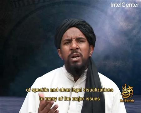 A still image from September 9, 2007 video footage shows Abu Yahya al Libi, a Libyan-born top al Qaeda leader, who was killed in a U.S. drone strike in Pakistan earlier this week, a U.S. official said on June 5, 2012. U.S. officials said that Abu Yahya had recently been considered by U.S. counter-terrorism experts as the No. 2 in the core al Qaeda group led by Ayman al Zawahiri. Zawahiri has headed the group since al Qaeda's founder, Osama bin Laden, was killed last year in a U.S. commando raid on his hideout in Pakistan. REUTERS/IntelCenter/Handout
