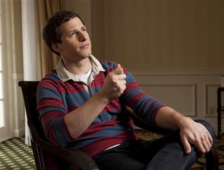 Actor Andy Samberg poses for a portrait as he promotes the film ''That's My Boy'' at the Four Seasons in Beverly Hills, California June 2, 2012. REUTERS/Jason Redmond