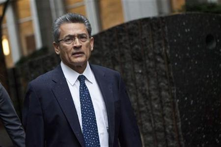Rajat Gupta, a former Goldman Sachs Group Inc and Procter & Gamble board member, arrives at Manhattan Federal Court in New York, June 4, 2012. REUTERS/Andrew Burton