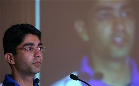 Olympic men's 10m air rifle gold medallist Abhinav Bindra attends a ceremony in New Delhi August 26, 2008. REUTERS/Vijay Mathur/Files