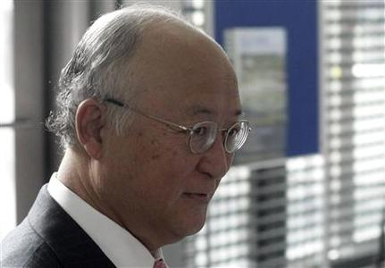 International Atomic Energy Agency (IAEA) Director General Yukiya Amano enters the IAEA headquarters in Vienna June 8, 2012. REUTERS/Herwig Prammer
