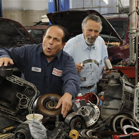 Undated handout photo courtesy of Car Talk shows Tom (R) and Ray Magliozzi. REUTERS/Richard Howard/Car Talk/Handout