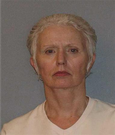 Catherine Greig, longtime girlfriend of former mob boss and fugitive James ''Whitey'' Bulger, is seen in a booking mug photo released to Reuters August 1, 2011. Greig was indicted by a federal grand jury on Thursday for conspiracy to harbor and conceal her fugitive boyfriend and former crime boss Bulger, federal prosecutors said. REUTERS/U.S. Marshals Service/U.S. Department of Justice/Handout