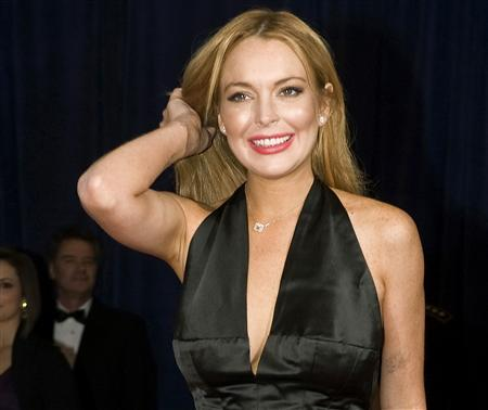 Actress Lindsay Lohan arrives for the annual White House Correspondents' Association Dinner at the Washington Hilton in Washington in this April 28, 2012 file photograph. REUTERS/Jonathan Ernst/Files