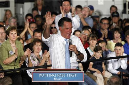 Republican presidential candidate Mitt Romney speaks during a campaign stop at Southwest Office Systems in Fort Worth, Texas June 5, 2012. REUTERS/Darrell Byers