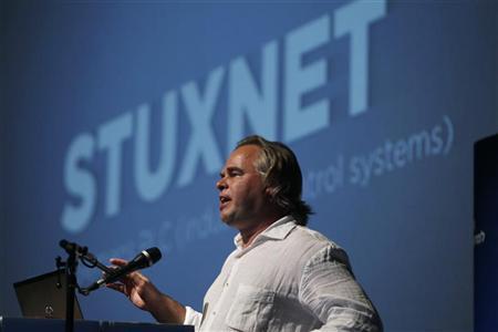 Eugene Kaspersky, Chairman and CEO of Kaspersky Labs, speaks at a Tel Aviv University cyber security conference June 6, 2012. REUTERS/Baz Ratner
