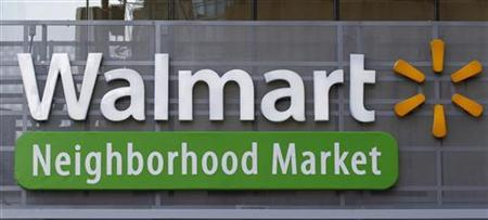 The exterior of a newly opened Walmart Neighborhood Market is seen in Chicago, September 21, 2011. REUTERS/Jim Young