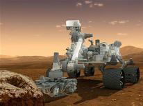 Esse desenho de um artista apresenta o robô Curiosity, da NASA, que foi construído para investigar a capacidade atual ou passada de Marte para sustentar vida de micróbios, 8 de junho de 2012. REUTERS/NASA/JPL-Caltech/Divulgação
