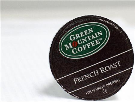 A Green Mountain Coffee single-serve K-Cup is pictured in New York, May 3, 2012. REUTERS/Brendan McDermid