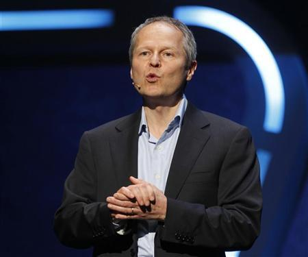 Yves Guillemot, cofounder and CEO of Ubisoft speaks at a news briefing during the E3 game expo in Los Angeles, California June 4, 2012. REUTERS/Fred Prouser
