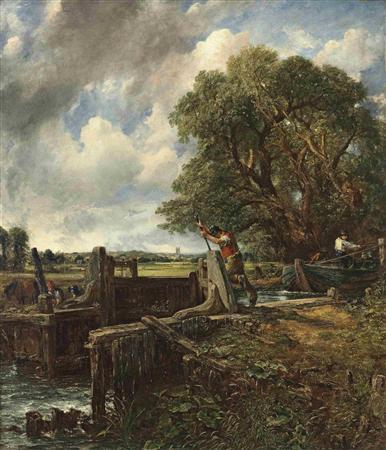 Constable's ''The Lock'' is seen in this undated handout photograph released in London June 12, 2012. Christie's will showcase highlights of its summer season in London with a public exhibition of some of the most valuable lots from an art auction series expected to raise more than 300 million pounds ($470 million). Among the most prized lots on display is Constable's ''The Lock'', the last of six celebrated large canvases by the artist still in private hands, which is expected to fetch 20-25 million pounds when it goes under the hammer on July 3. REUTERS/Christie's/Handout