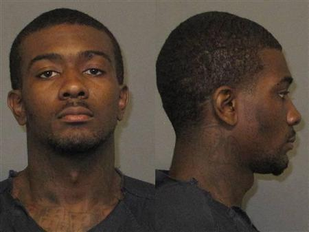 Desmonte D. Leonard, 22, of Montgomery, Alabama is pictured in an undated police handout photo obtained by Reuters June 11, 2012. REUTERS/Auburn Police Division/Handout.