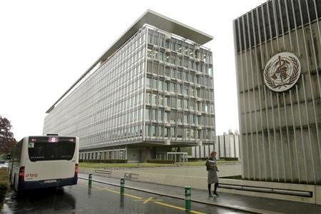 The World Health Organisation (WHO) headquarters are pictured in Geneva April 27, 2009. REUTERS/Denis Balibouse