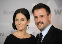 Actors Courteney Cox and her husband David Arquette attend the 2010 Women in Film Crystal+Lucy Awards in Los Angeles June 1, 2010. REUTERS/Phil McCarten