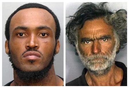 Rudy Eugene (L) and Ronald Poppo are seen in this combination of undated handout photos released by the Miami-Dade Police Department May 30, 2012. REUTERS/Miami-Dade Police Department/Handout