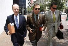 Actor Stephen Baldwin (C), arrives with his attorneys Timothy Madden (L) and Leo Palazzo at the New Orleans Federal Court House in New Orleans, June 4, 2012. REUTERS/Sean Gardner