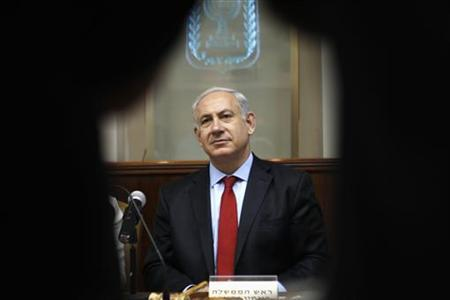 Israel's Prime Minister Benjamin Netanyahu attends the weekly cabinet meeting in Jerusalem June 10, 2012. REUTERS/Baz Ratner