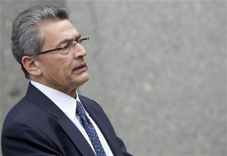 Former Goldman Sachs Group Inc board member Rajat Gupta leaves Manhattan Federal Court in New York June 6, 2012. REUTERS/ Andrew Kelly