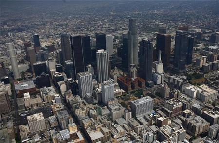 Downtown Los Angeles, California is seen July 16, 2011. REUTERS/Eric Thayer