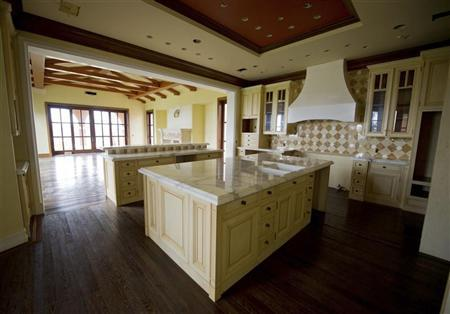 The kitchen of a for sale, $37 million dollar luxury home at One Pelican Hill Road North is seen in Newport Beach, California April 13, 2012. REUTERS/Lori Shepler