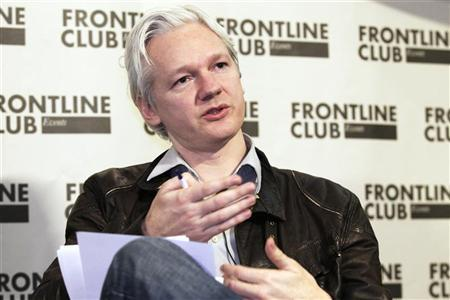 WikiLeaks founder Julian Assange speaks at a news conference in London, February 27, 2012. REUTERS/Finbarr O'Reilly