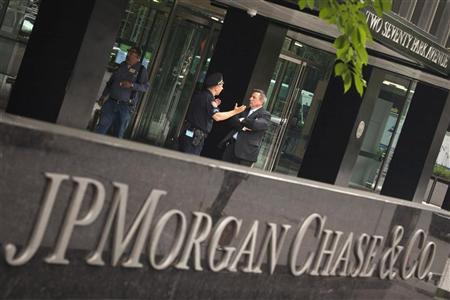 The JP Morgan Chase & Co. headquarters is pictured in New York May 14, 2012. REUTERS/Eduardo Munoz