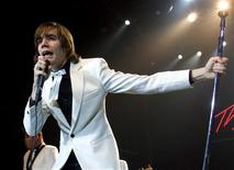 Singer Howlin' Pelle Almqvist of The Hives performs at The Joint inside the Hard Rock Hotel & Casino in Las Vegas, Nevada in this January 15, 2005 file photo. REUTERS/Ethan Miller/Files
