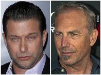 """A combination photo shows actor Stephen Baldwin (L) at the premiere of the film """"Mission: Impossible - Ghost Protocol"""" in New York in a December 19, 2011 file photo and actor Kevin Costner at the premiere of television series """"Hatfields and McCoys"""" at Milk Studios in Los Angeles, California, in a May 21, 2012 file photo. REUTERS/Carlo Allegri (L) and Bret Hartman/Files"""
