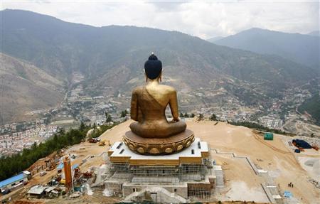 A statue of Lord Buddha is pictured at Kuensel Phodrang in Thimphu May 20, 2012. REUTERS/Singye Wangchuk