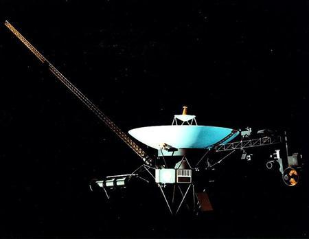 Undated image of the Voyager 1 spacecraft which is reaching the end of our solar system after a 27-year journey.