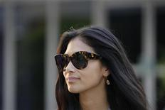 Nicole Scherzinger, girlfriend of McLaren Formula One driver Lewis Hamilton of Britain, walks in the paddock after the qualifying session of the Malaysian F1 Grand Prix at Sepang International Circuit outside Kuala Lumpur March 24, 2012. REUTERS/Samsul Said