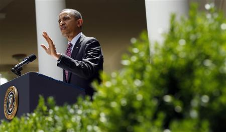 U.S. President Barack Obama speaks about immigration at the White House in Washington June 15, 2012. REUTERS/Kevin Lamarque