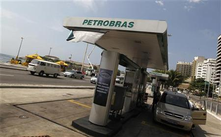 A Petrobras gas station is seen at Copacabana Beach in Rio de Janeiro September 24, 2010. REUTERS/Bruno Domingos