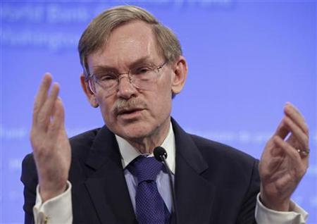 World Bank President Robert Zoellick speaks at an opening news conference of the spring International Monetary Fund (IMF)-World Bank meetings in Washington April 19, 2012. REUTERS/Yuri Gripas