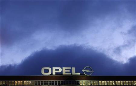 The logo of Opel is seen at the plant in Bochum November 4, 2009. REUTERS/Ina Fassbender